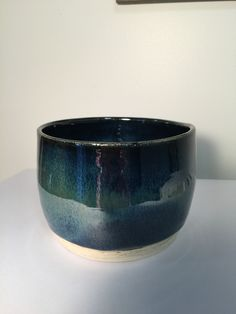 Carole's Pottery: Obsidian 3x under Seaweed x3 on Standard 182G (white) clay.