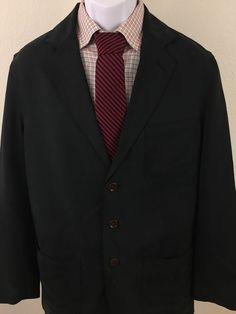 Men's Sharp Tommy Bahama Small Blazer Coat 100% Silk Smooth 2 Button 40R  #TommyBahama #TwoButton