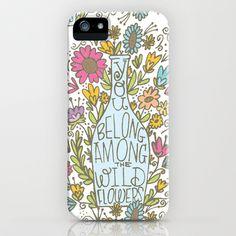 WILDFLOWERS iPhone & iPod Case by Matthew Taylor Wilson - $35.00