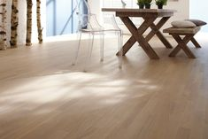 We have been producing parquet floors in Swiss quality with perfect aesthetics since Find inspiration from our parquet floors online. Parquet Flooring, Table, Inspiration, Furniture, Design, Home Decor, Biblical Inspiration, Homemade Home Decor