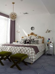 Mix & match patterns and textures to make your bedroom decor standout!