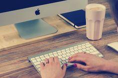 Working with iMac computer #free #apple #mac #digital #design #mockup #business #imac #desk #office #workplace #woman #freelance #