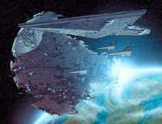 Star Wars - Star Destroyer and Death Star... Star Wars Ships, Star Wars Art, Star Trek, Star War 3, Death Star, Star Destroyer, Constellations, Science Fiction, Nave Star Wars