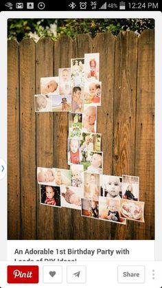 Decoration idea for 1st birthday
