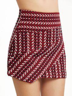Red Tribal Pattern Skirt