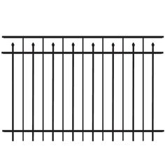 Freedom Standard New Haven Black Aluminum Decorative Fence