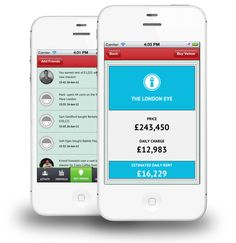 Landlord (Reality Games, UK 2012) - check-in GPS property buying game for iOS and Android