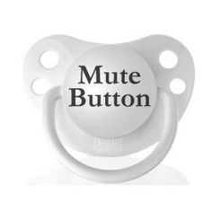 Personalized Pacifiers Mute Button Pacifier - Overstock™ Shopping - Big Discounts on INSTEN Pacifiers