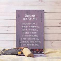 Cedulka Recept na lásku
