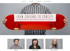 Minimalist website design inspiration: Crayons to Concept