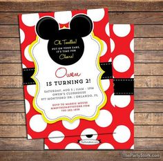 party mickey mouse party invitations to bring more colors on your nice looking party invitations