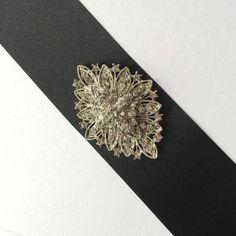Black Occasion Bridal Belt Sash Art Deco Style Vintage Jewel Suit Jenny Packham