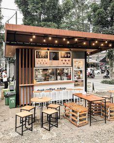 Cafe Shop Design, Coffee Shop Interior Design, Small Cafe Design, Kiosk Design, Bakery Design, Design Design, Outdoor Restaurant Design, Deco Restaurant, Restaurant Interior Design