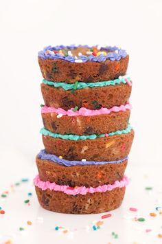 Mini Chocolate Chip Cookie Cake | Sprinkles for Breakfast