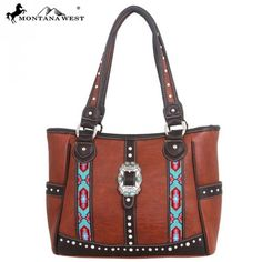 Montana West Western Aztec Buckle Collection Handbag
