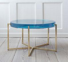 Blue resine table