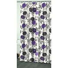 Home Classics Francesca Fabric Shower Curtain Purple