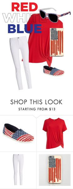 """Patriotism"" by laurenitat ❤ liked on Polyvore featuring TOMS, Abito, rag & bone and plus size clothing"