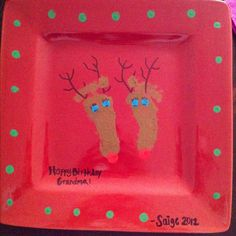 Serving plate we made for Saige's first time Grandma. The best things in life are homemade gifts! $8! <3