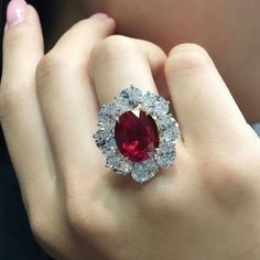 """""""Ratnaraj - 10.05 ct"""" Ruby ring by @faideeofficial which went live at @christiesjewels. Isn't this hypnotizing and stunning? #IndiagramJewellery"""