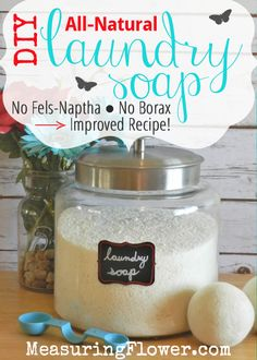 DIY Laundry Soap {Fe