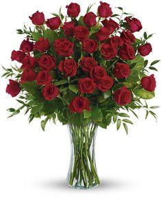 Breathtaking Beauty - 3 Dozen Long Stemmed Roses Flowers, Breathtaking Beauty - 3 Dozen Long Stemmed Roses Flower Bouquet - Teleflora.com