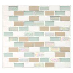 Daltile Keystones Blends 1'' x 2'' Porcelain Mosaic Tile in Trade Wind