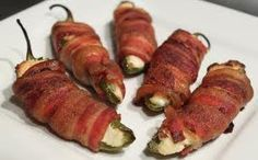 bacon wrapped jalopeno poppers!....Best ever at BEK'S in Fulton!