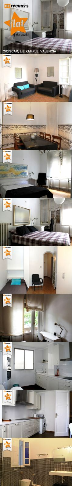 Live in posh Cánovas right in the city center and just two steps away from the Turia riverbed. http://goo.gl/D4QWbM