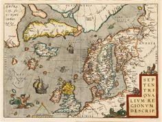 1400-luvun käsityksen mukainen kartta.