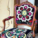Love the colors of this chair
