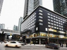 Le Germain Hotel Maple Leaf Square (75 Bremner Boulevard) Conveniently located within 10 minutes' walk of Toronto's Union Train Station and Air Canada Centre, this hotel offers an on-site restaurant and bar. Breakfast and free Wi-Fi are provided to guests. #bestworldhotels #hotel #hotels #travel #ca #toronto