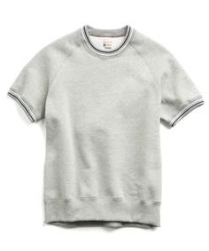 fd916fa6c Short Sleeve Sweatshirt with Tipping in Grey Champion Logo, Tips, Logos,  Sweaters,