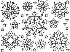 snowflakes coloring page - Christmas Snowflake Coloring Pages