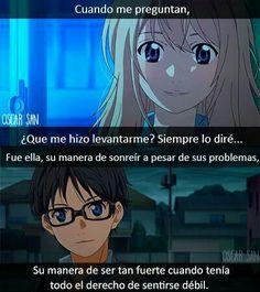 Frases del anime shigatsu wa kimi no uso incluyendo imagenes etc.  Po… #detodo # De Todo # amreading # books # wattpad
