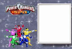 Power Rangers Free Printable Invitations.