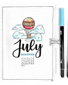 Looking for some amazing inspiration for your July welcome pages for your Bullet Journal? Well have a look at these! We have over 25 to fuel your inspiration Bullet Journal School, Birthday Bullet Journal, Planner Bullet Journal, Bullet Journal Cover Page, Bullet Journal Books, Bullet Journal Themes, Bullet Journal Inspiration, Journal Pages, Journal Covers