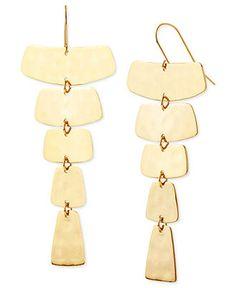 Robert Lee Morris Earrings, Gold-Tone Linear Drop Earrings - Fashion Jewelry - Jewelry & Watches - Macy's