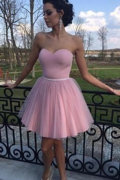 Cheap Homecoming Dresses Short Homecoming Dresses 2017 Concise Sweetheart Little Cocktail Dresses Mini Length Puffy Prom Dresses With Sashes Simple Graduation Gown Pretty Homecoming Dresses, Pink Prom Dresses, Cheap Prom Dresses, Quinceanera Dresses, Sexy Dresses, Cute Dresses, Dress Outfits, Evening Dresses, Dresses Short