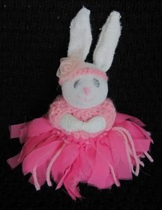 Scrap Bunnies, How to Make Adorable Stuffed Bunnies Out of Socks and Craft Scraps. A Fun Easter Craft.