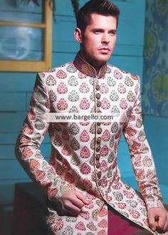 Gorgeous Raw Silk Sherwani Suits Oslo Norway Groom Wedding Sherwani Mens Sherwani 2014