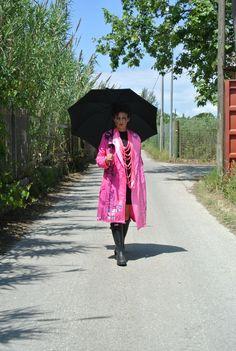 Ninja Raincoat up cycled hand painted #upcyclinginflatableswithlove