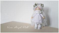 куколка ангелок, маленькая кукла, тильда ангел, текстильная кукла, в кедах, блондинка, кукла с венком, ручная работа Алины Мининой alinaminina.toys@gmail.com