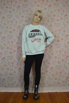 80s Sweatshirt Soft Grunge Sweater Preppy Hipster by gothwave