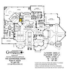 Lightkeeper's House House Plan 05232, 1st Floor Plan, Coastal Style House Plans, Master Down House Plans
