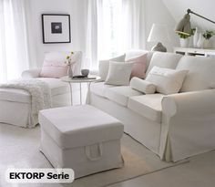 EKTORP Sofa and chaise. Love.