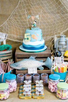 Fishing Birthday Party • Sammy's 5th Birthday