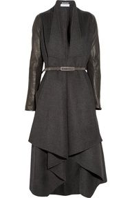 Sophistication and elegance | www.myLusciousLife.com -  winter coat: KaufmanFranco  belted leather and felt coat