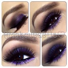 #makeup #eyes Visit my site Real Techniques brushes makeup -$10 http://youtu.be/eqlihtAACIY i love this purple color, it goes very well with the brown eye; almost making it a Auhburn like color