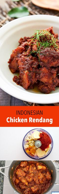Chicken Rendang is a delicious Indonesian dry curry that's packed with flavor thanks to the caramelized spice paste and coconut milk the chicken is cooked in.